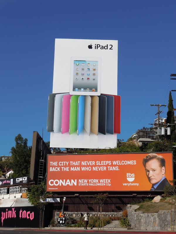 White iPad2 billboard Sunset Strip
