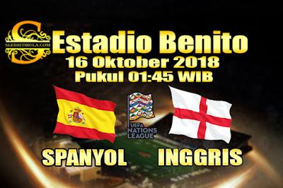 Judi Bola Dan Casino Online - Prediksi Pertandingan UEFA Nations League Spanyol Vs Inggris 16 Oktober 2018