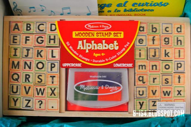 Alphabet, Wooden Stamps, Preschool