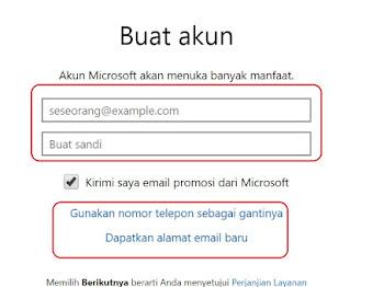 Cara Mendaftar dan Membuat Akun Microsoft