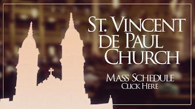 St. Vincent de Paul Upcoming Mass Schedule