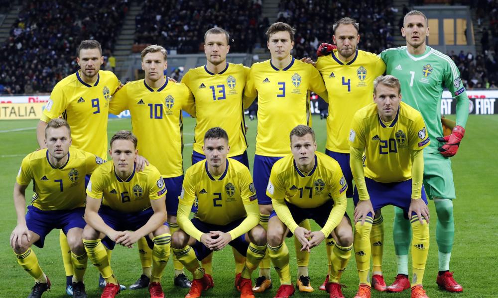 Resultado de imagen para sweden italy 2018 squad