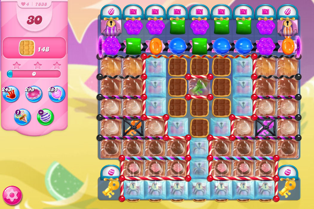 Candy Crush Saga level 7838