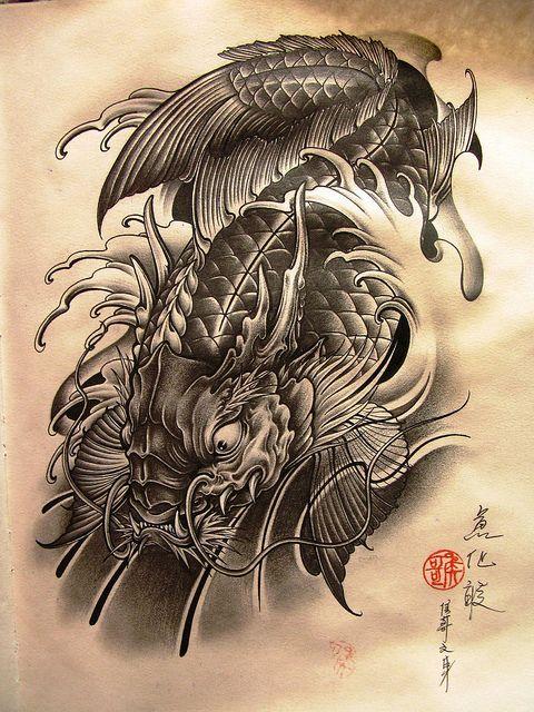 tatuaje de carpas koi