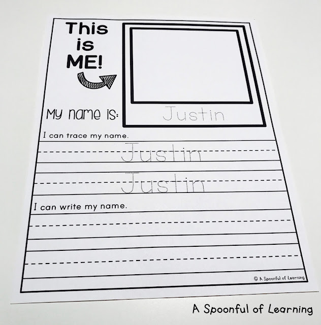 Name Activities - Option 2: Trace and Write Names 1