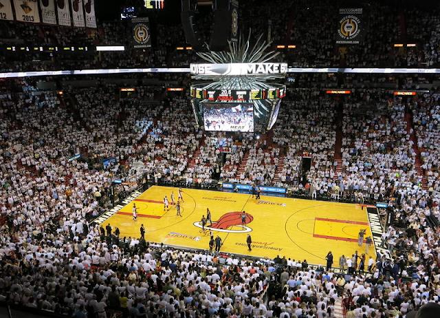 Jogo de basquete do Miami Heat em Miami