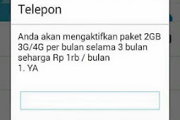 Paket Internet Telkomsel 2GB 3G/4G Seharga Rp 1RB / Bulan