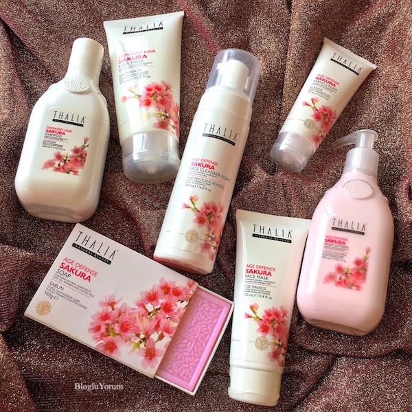 thalia sakura yaşlanma karşıtı bakım serisi vücut ürünleri