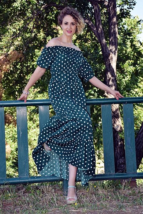 Outfit-Vestido-largo-verde-lunares-3