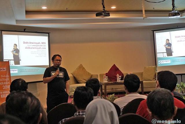 Pemaparan tentang SEO oleh Didik Arwinsyah