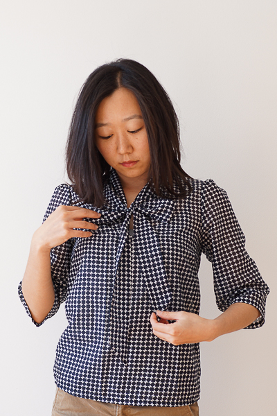 Simple Sew Lottie Blouse Sew-along Monochrome