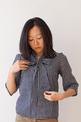 Simple Sew Lottie Blouse Monochrome