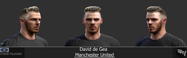 PES 2013 David de Gea (Manchester United) Face by Orlando Facemaker
