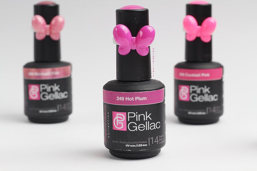 Hot-plum-pink gellac