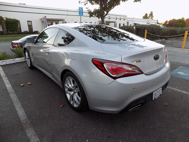 2014 Hyundai Genesis Coupe with damaged fender, door & quarter panel before collision repairs at Almost Everything Auto Body