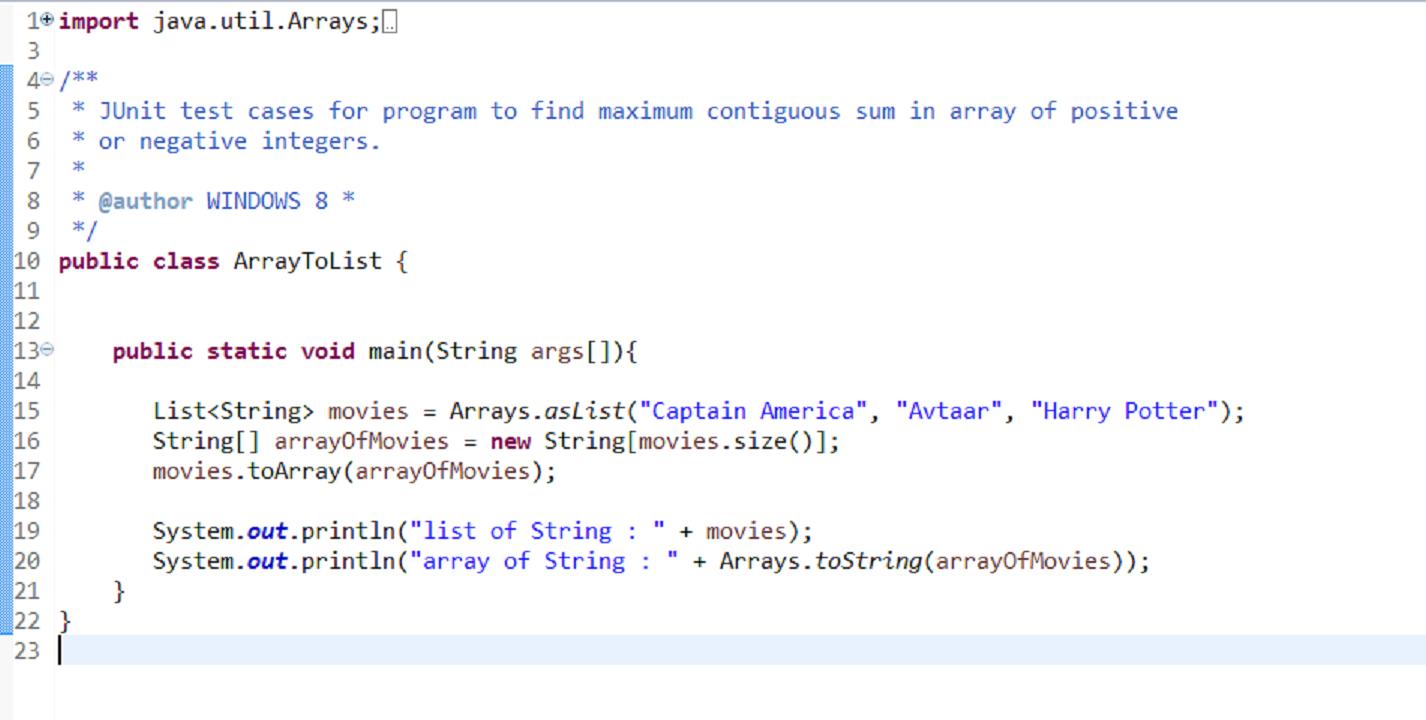 Java ArrayList example