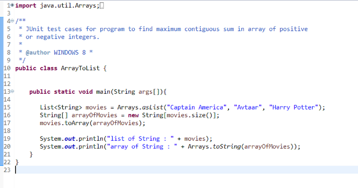 how to convert list to array in java and vice versa java67