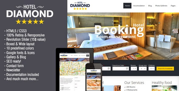 Hotel Online Booking Template