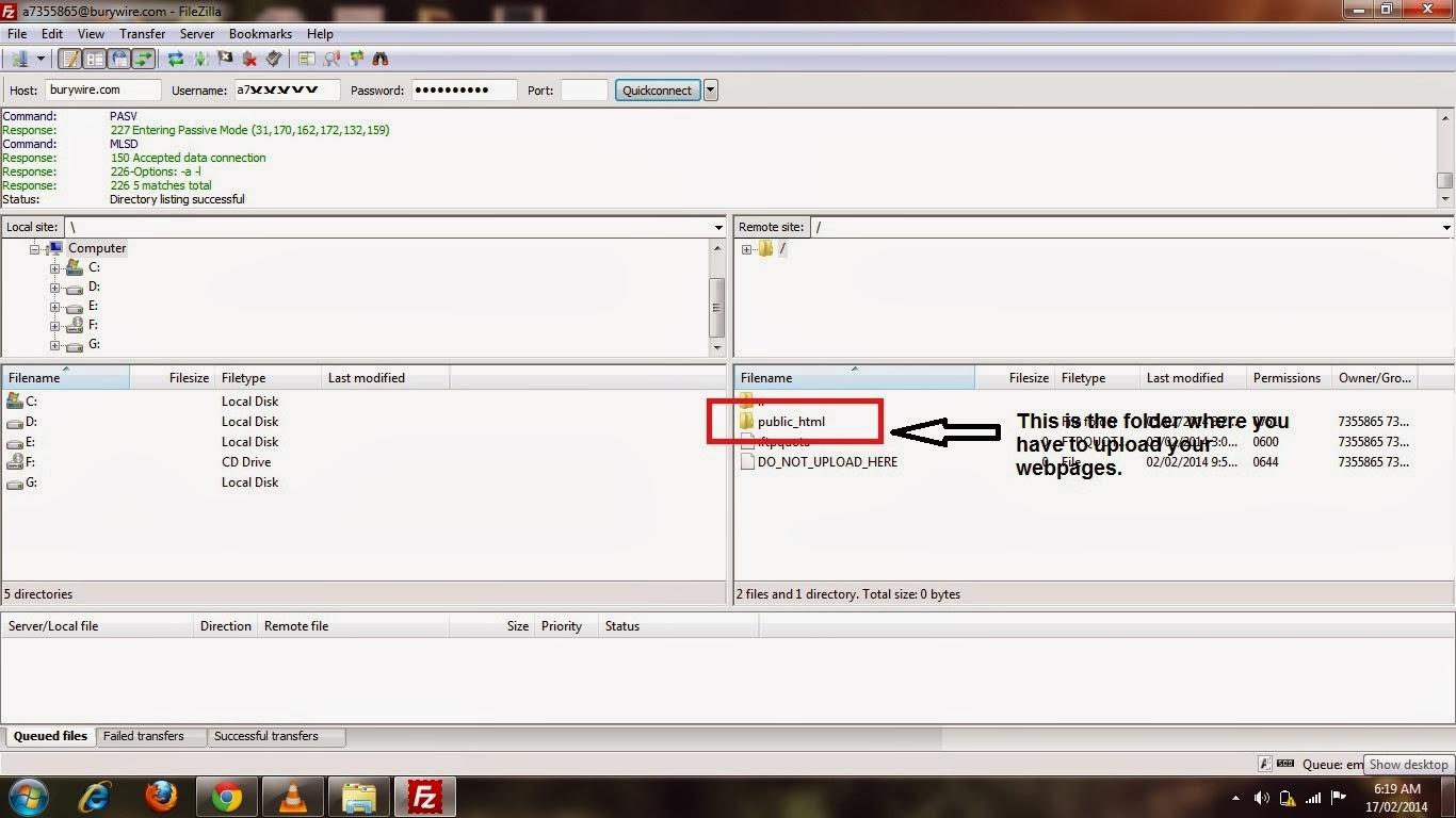 Pic 2(bb) - How to Upload Web-pages to your website?
