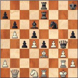 Partida de ajedrez O'Kelly - Francino, posición después de 32...h5!