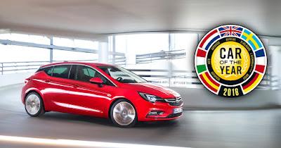 Το Opel Astra 'Αυτοκίνητο της Χρονιάς 2016'