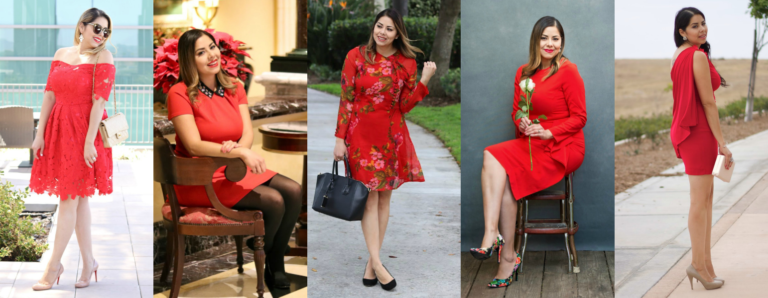 5 Red Dress Ides for the Holidays, red lace dress, 5 ways to style red dresses, san diego fashion blogger