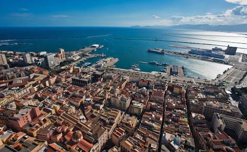 Vista aérea de Cagliari - Sardenha