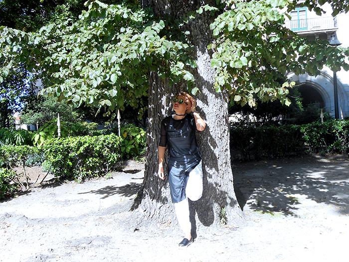 tunica transparente negra