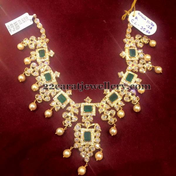 CZ Emerald Necklace 85 Grams