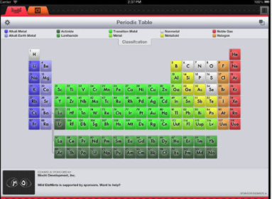 mild elemints is an interactive periodic table for the iphone and ipod touch it is the free version of elemints which not only offers a periodic table - Best Periodic Table App For Iphone
