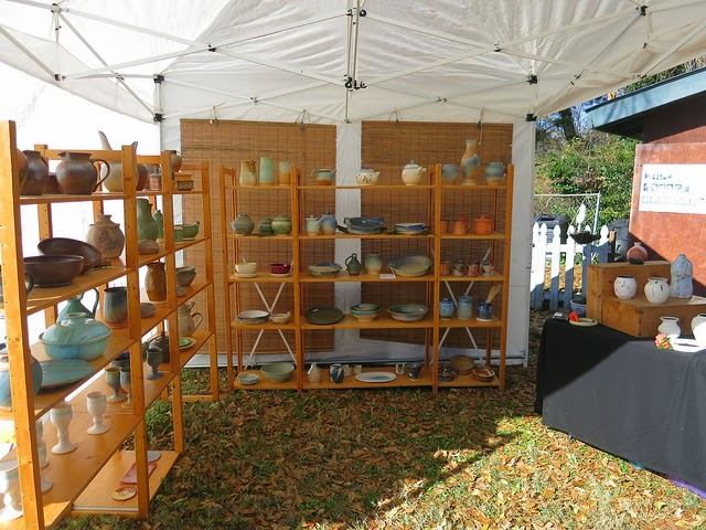 Art Show Booth for Pottery by Lori Buff