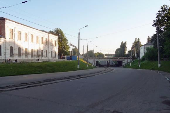 Конотоп. Вулиця Богдана Хмельницького з трамвайною лінією