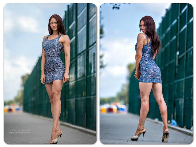 Lyuba Oleshkevich Russian Figure Bodybuillder