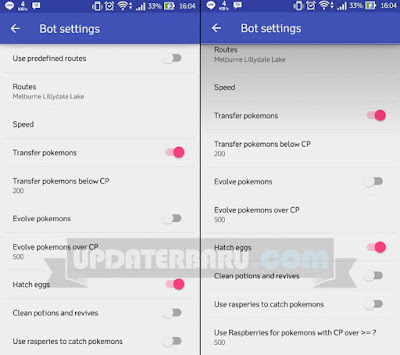cara setting bot aplikasi go bot pokemon go hp android