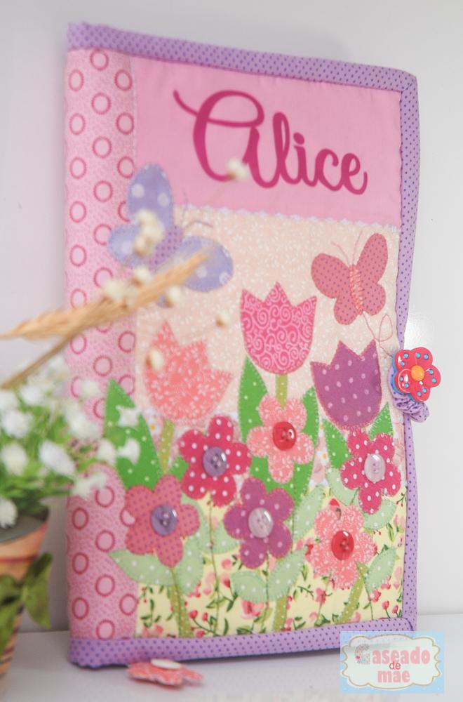 Populares Caseado de mãe: Capa de caderneta de vacina Jardim da Alice YR22