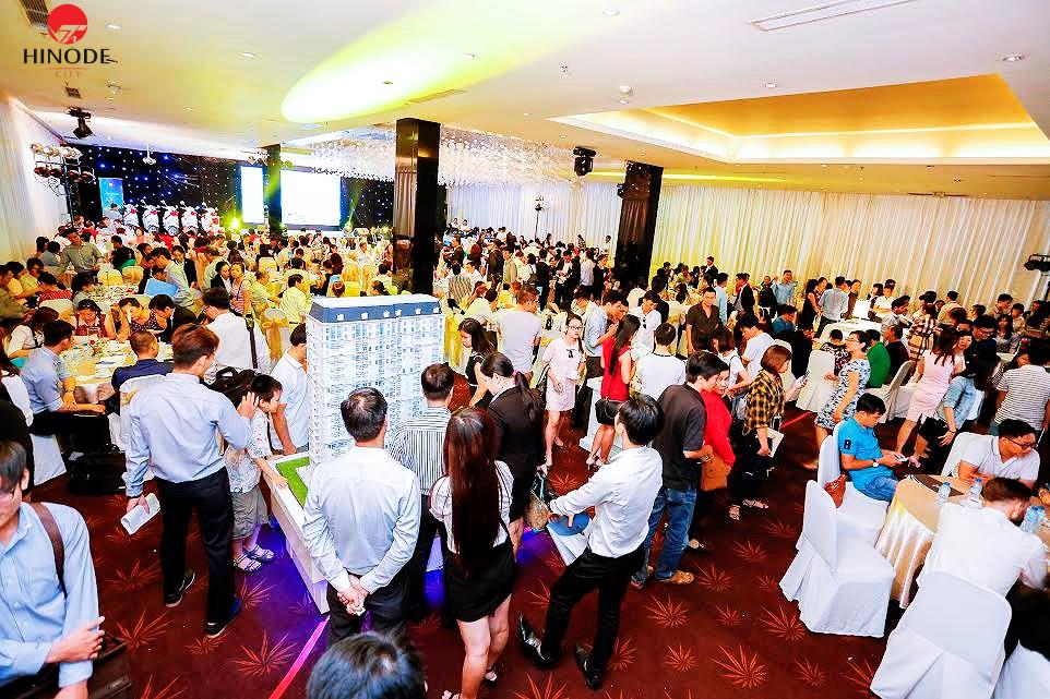 Không khí sôi động trong buổi mở bán dự án Hinode City Minh Khai