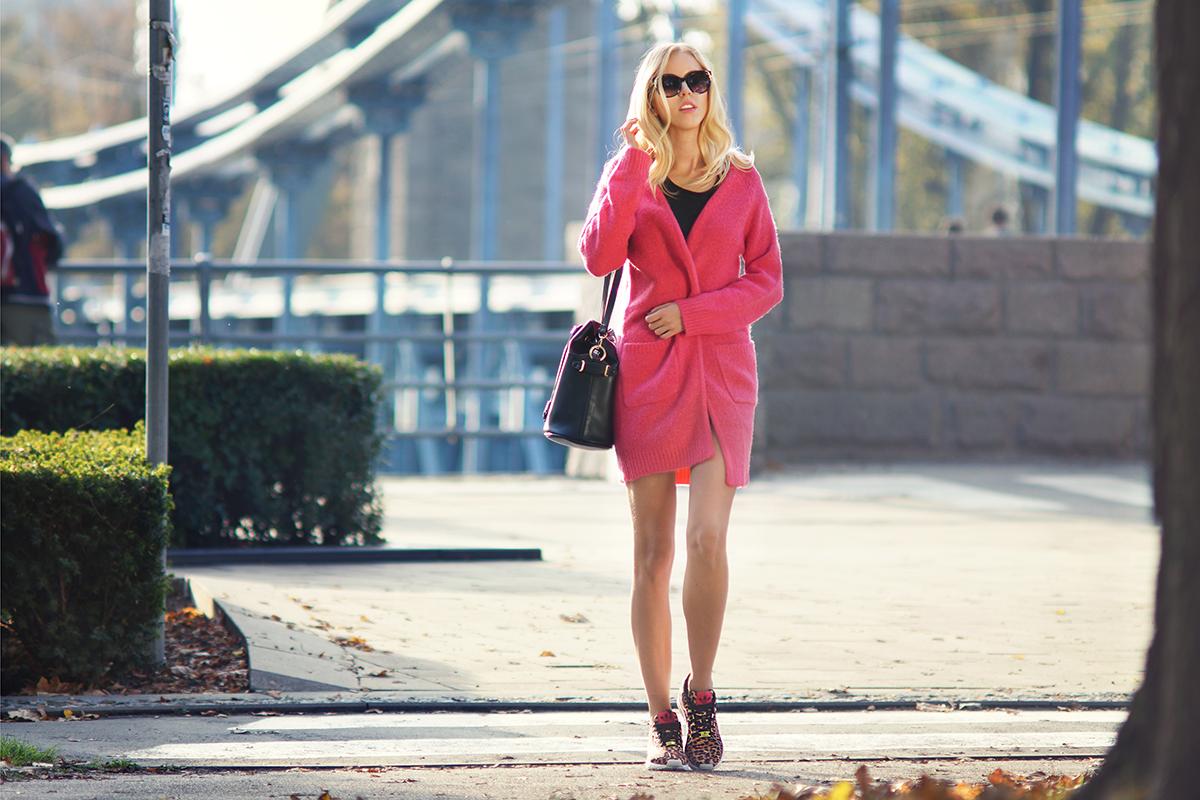 Różowy sweter New Look