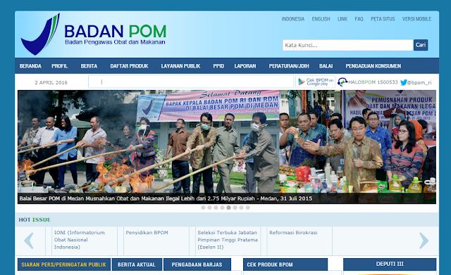 situs resmi BPOm