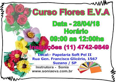 Curso flores E.V.A em Suzano