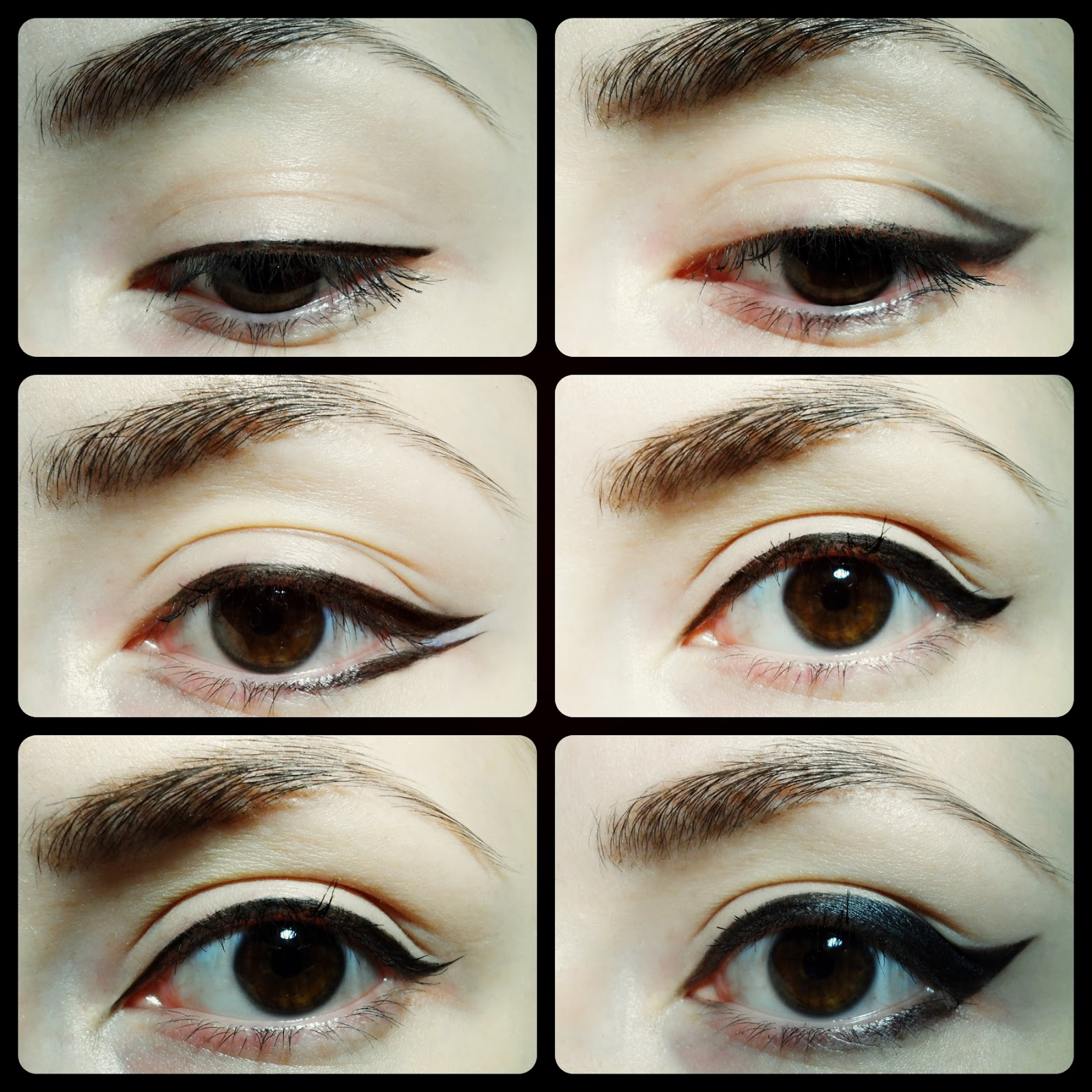 liquid black eyeliner styles alternatives variations