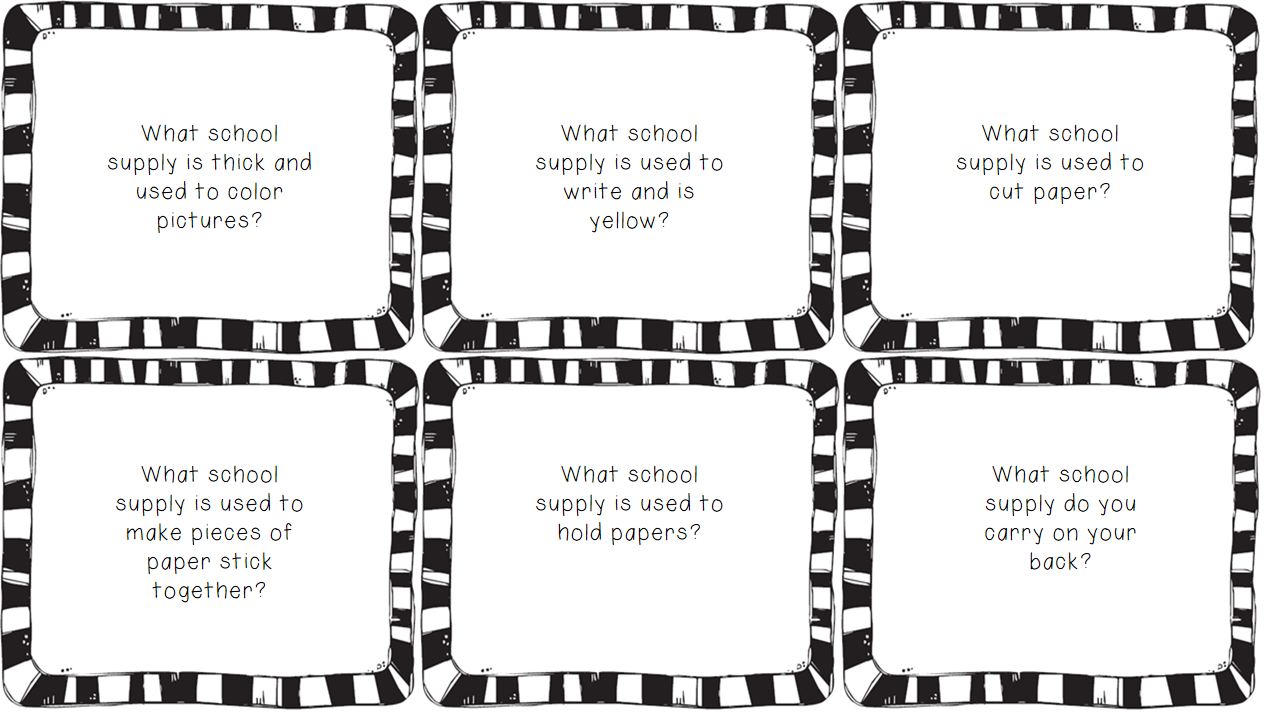 Spunky Speech: Back-to-School Scavenger Hunt!