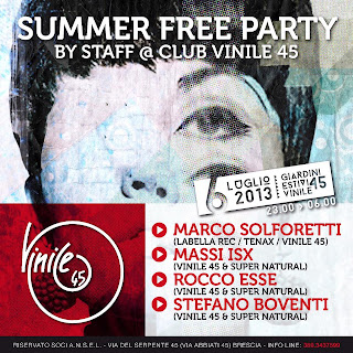 SUMMER FREE STAFF PARTY @ CLUB VINILE 45 (BS)