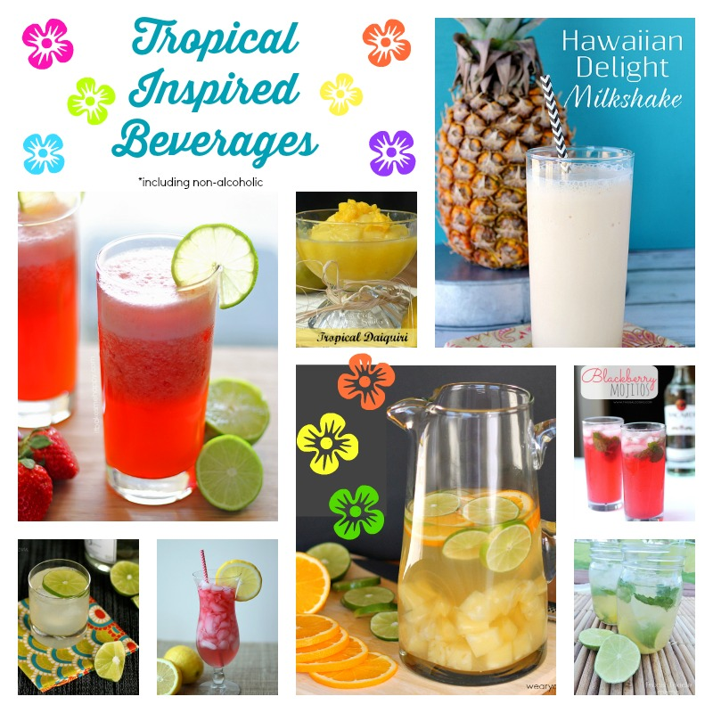 Tropcial Inspired Beverages | Cooking on the Front Burner #tropicaldrinks