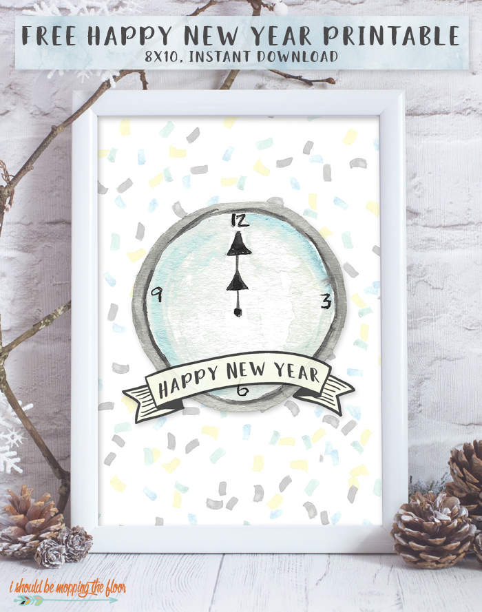 Free New Year's Printable | 8x10 | Instant Download