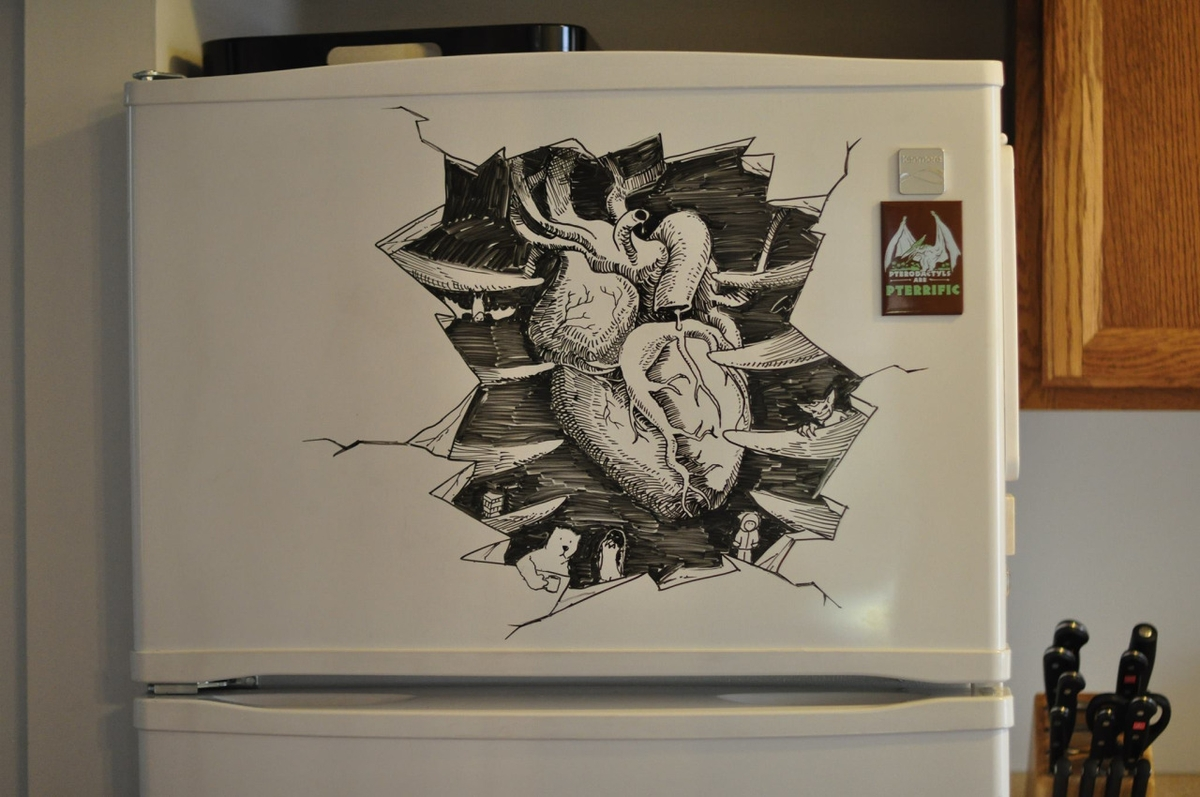 10-Beating-Heart-Charlie-Layton-Freezer-Door-Drawings-and-Illustrations-www-designstack-co