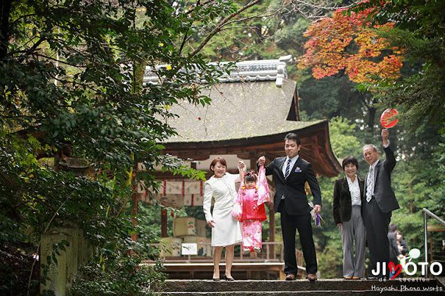 城陽市の水度神社で七五三出張撮影
