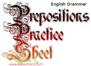 CBSE Class 7/8/9/10 English Grammar - Prepositions Practice Sheet (#cbseNotes)