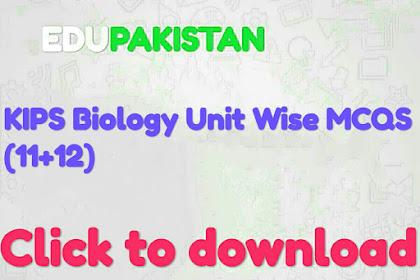 KIPS Biology unit wise mcqs