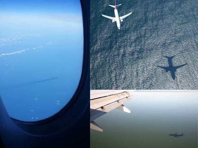 indica che l'USO si sta muovendo attraverso l'acqua ad alta velocità.