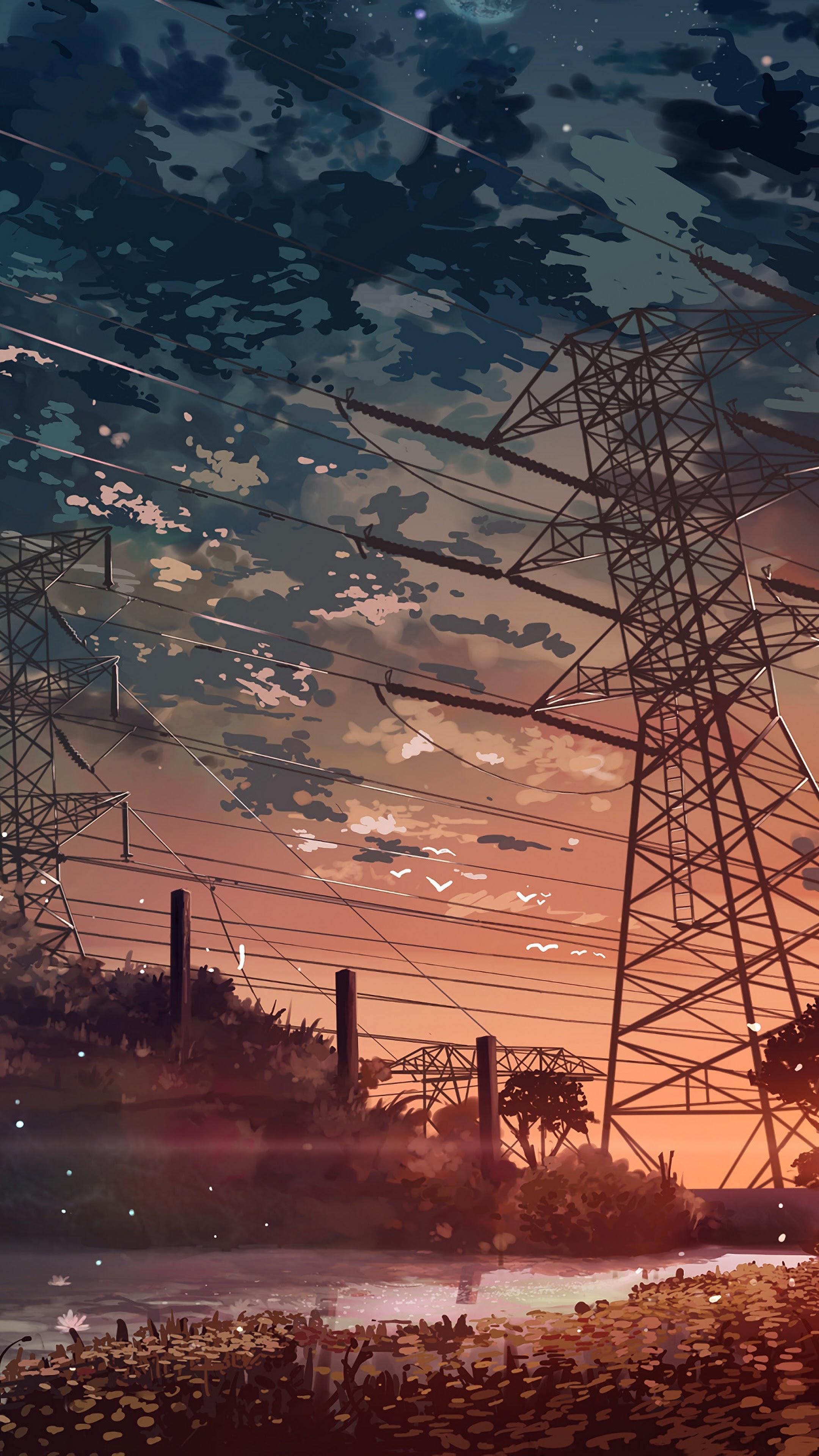 Anime Scenery Sunset 4k Wallpaper 112
